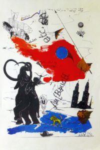 P. Anele, Aufbruch, Zeichnung, 1985