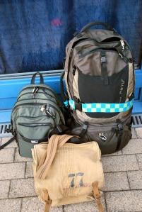 Meine drei Gepäckstücke